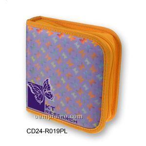 Purple 3d Lenticular CD Wallet/ Case - 24 Cd's ( Butterfly)