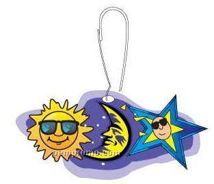 Sun And Moon Zipper Pull
