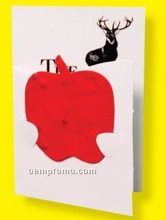 Apple Floral Seed Paper Pop-out Booklet