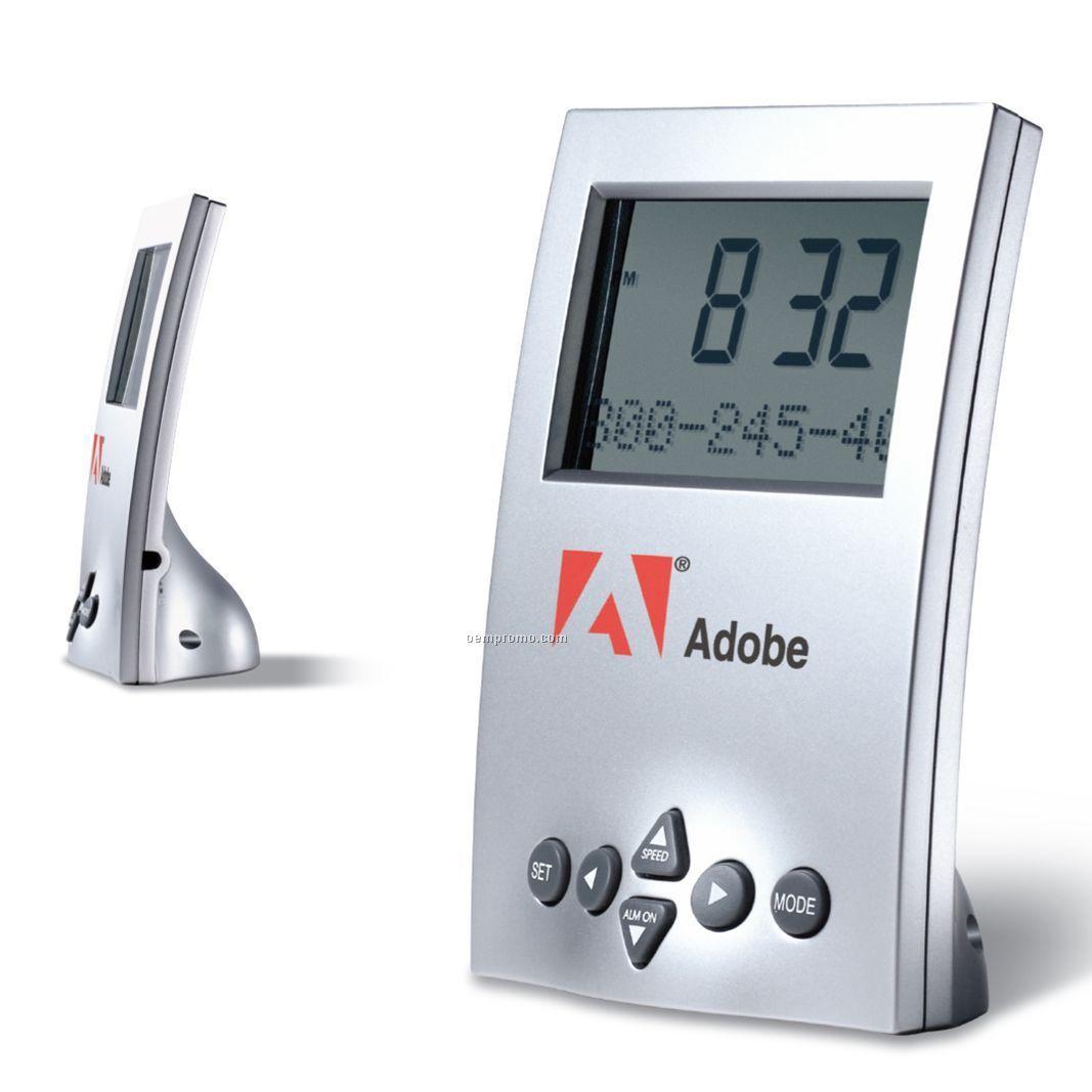 "Digital Clock W/ Language Translator (3""X4-1/2"")"