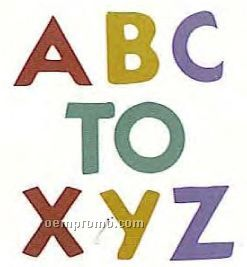 "Mylar Shapes Alphabet A-z (2"")"