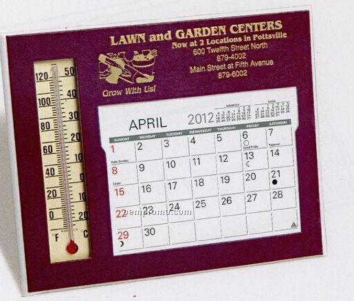 The Emissary Warwick Premier Desk Calendar W/ Thermometer (After April)