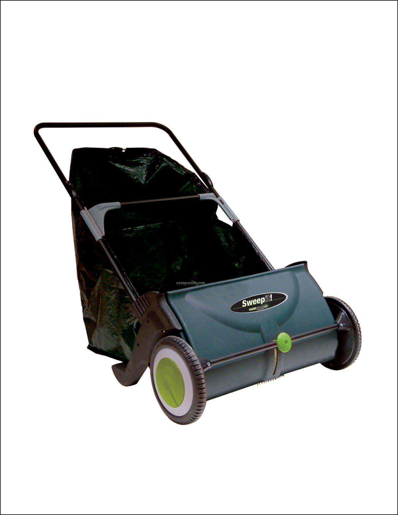 """Yardwise 25"""" Sweepit Lawn Sweeper W/30 Gal. Basket"""