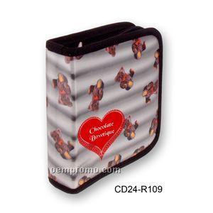 Black 3d Lenticular CD Wallet/ Case - 24 Cd's (Teddy Bear)
