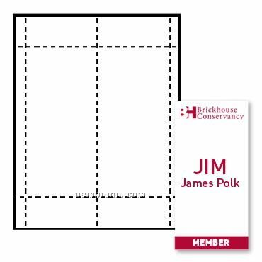 """Classic Name Tag Paper Inserts - 1 Color (4""""X8"""")"""