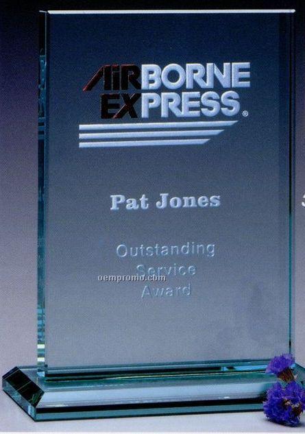"""Jade Gallery Crystal Vanderbilt Rectangle Award (7"""")"""