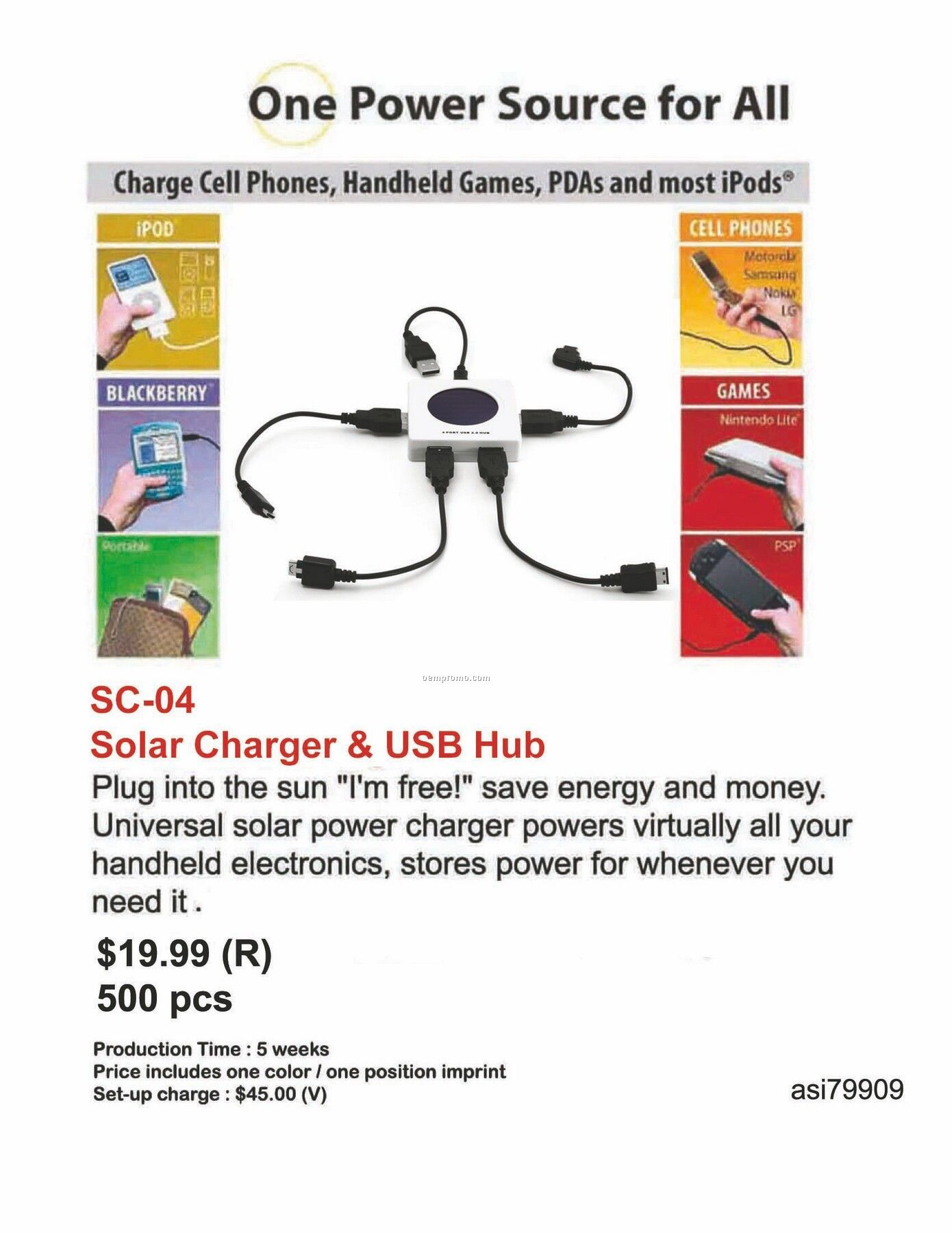Solar Charger, USB Hub, For Iphone, Ipod, Mp3 Player, Mp4 Player, Phone Cha