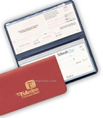 Suedene 2 Pocket Standard Checkbook Holder