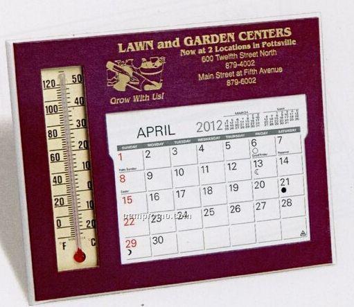 The Emissary Warwick Premier Desk Calendar W/ Thermometer (January - April)