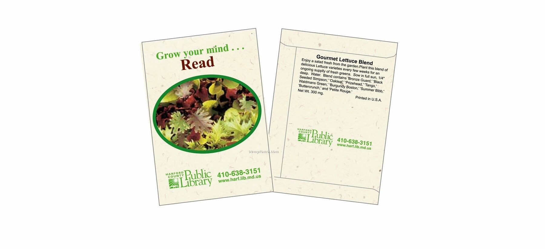 3027 Lettuce 'gourmet Blend' 2-color Imprint