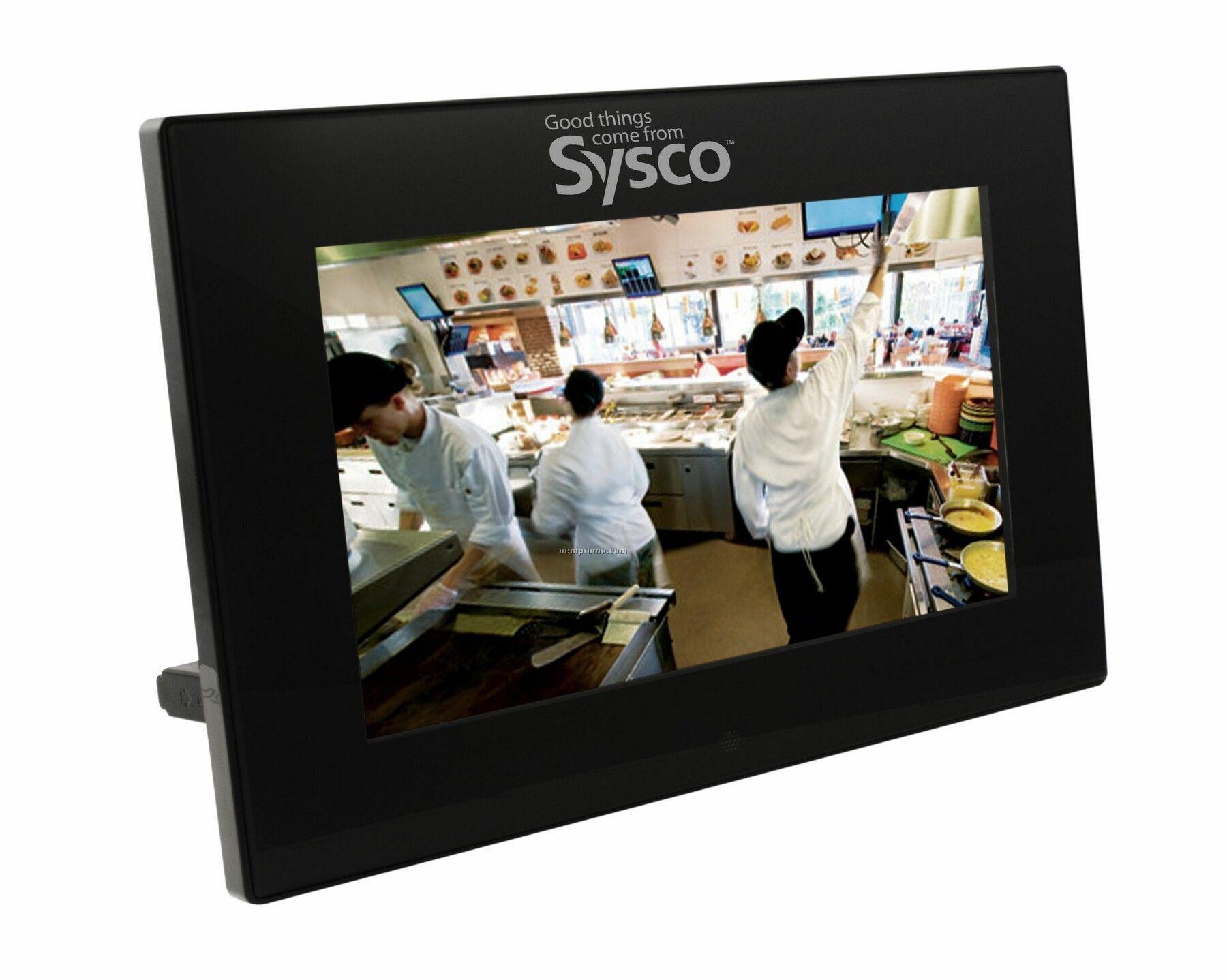 Calypso Slim Design Digital Photo Frame W/ Mp3 Player & Internal Speakers