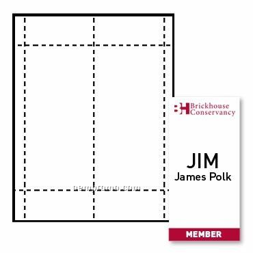 """Classic Name Tag Paper Inserts - 2 Color (4""""X8"""")"""