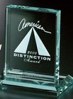 """Jade Gallery Crystal Vanderbilt Rectangle Award (4 1/2"""")"""