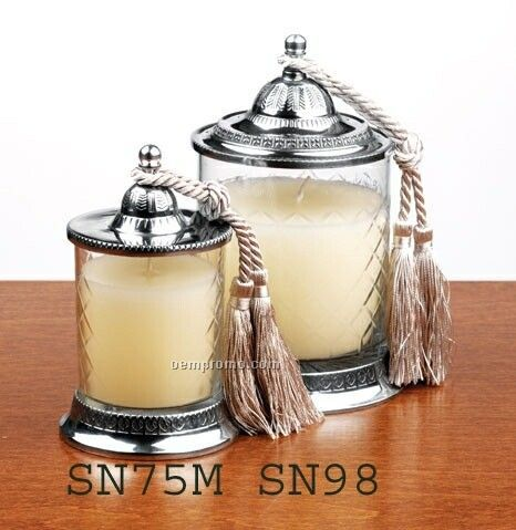 Ocean Breeze Candle Jar W/ Tassel