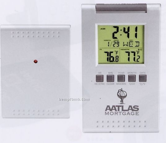 Rf Wireless In/ Out Thermo-alarm Clock