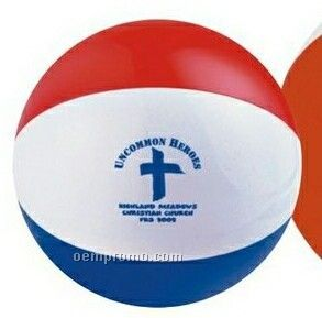 """16"""" Inflatable Alternating Blue, Red, & White Beach Ball"""