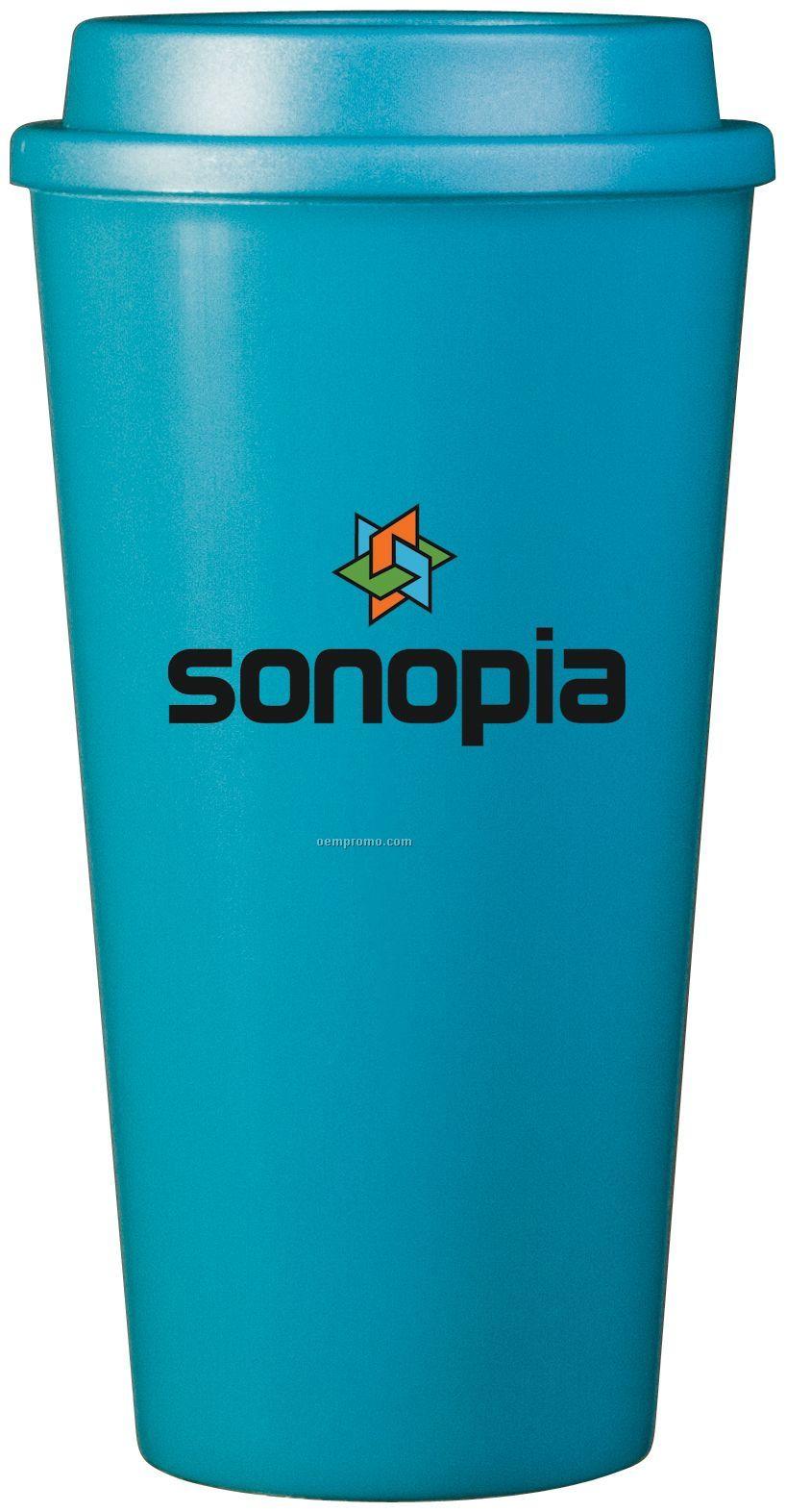 16 Oz. Aqua Plastic Cup2go Cup