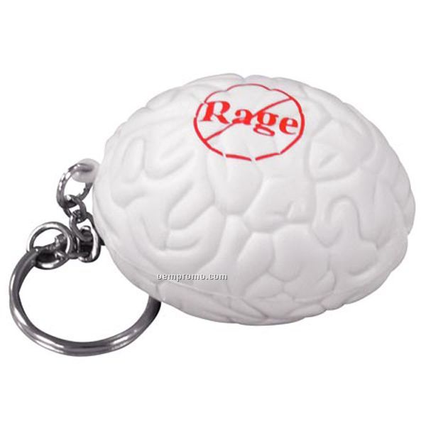 Brain Key Chain Squeeze Toy