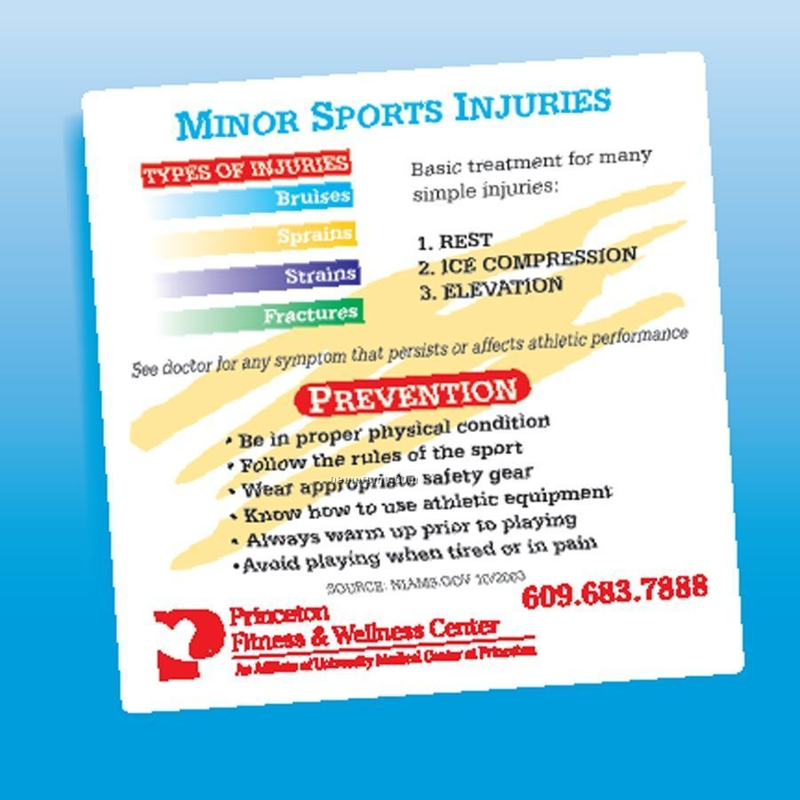 Health & Safety - Laminated Minor Sports Injury Magnet