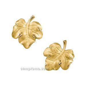 Ladies' 14ky 17x17-3/4 Leaf Earring