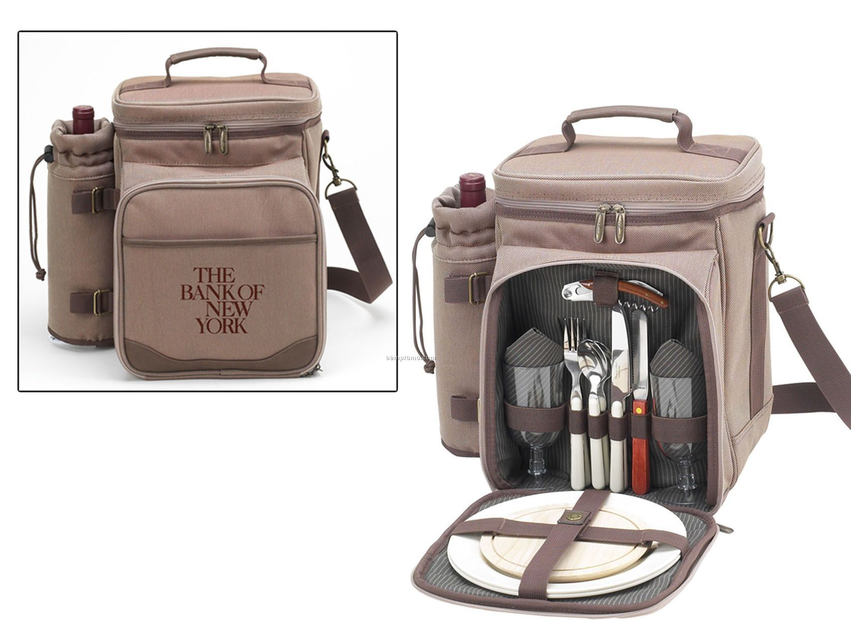 New Hudson Picnic Cooler Tote Bag For Two