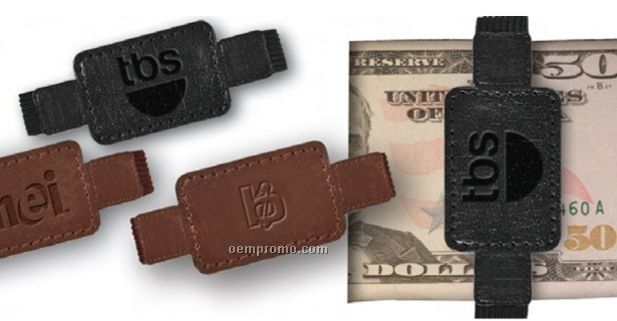 Palace Leather Elastic Money Clip