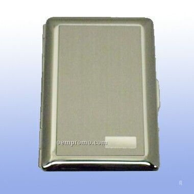 Satin W/Initial Panel Deluxe Credit Card Case (Screened)