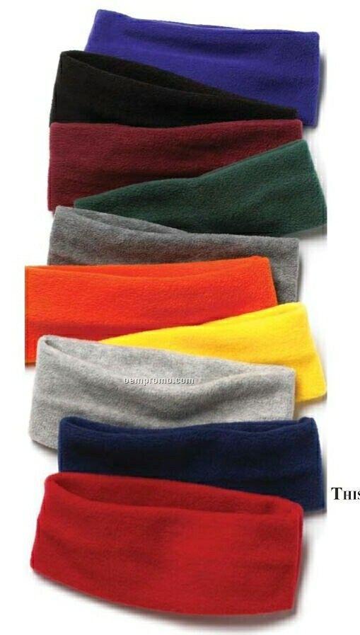 Wolfmark Fleece Black Headband