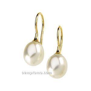 Ladies' 14ky 8x9 Cultured Pearl Earring