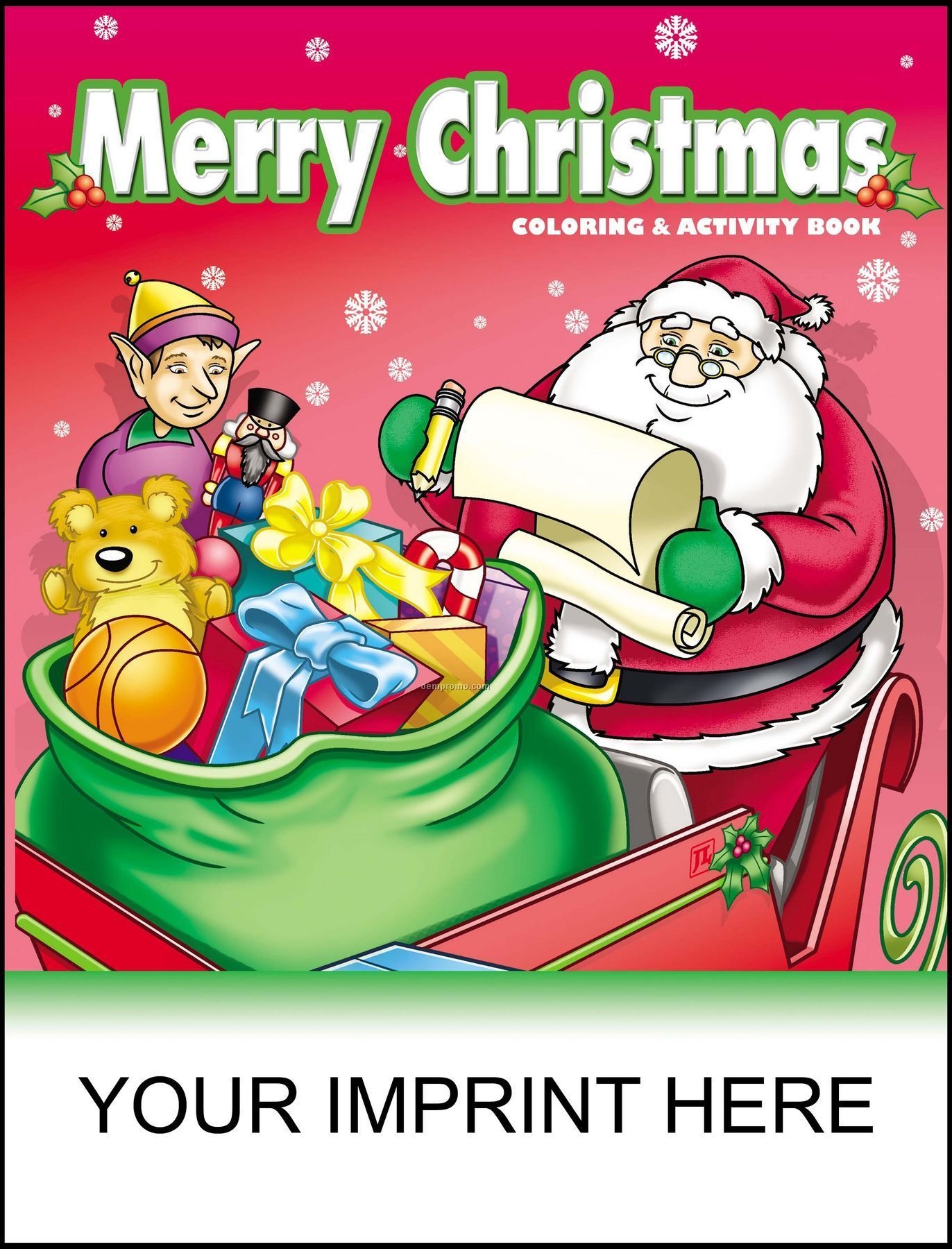merry christmas coloring activity book santa holding list
