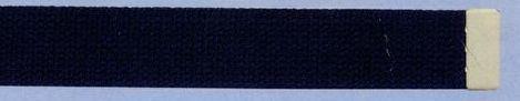 Plain Web Belt With Adjustable Leather Tip (Black)