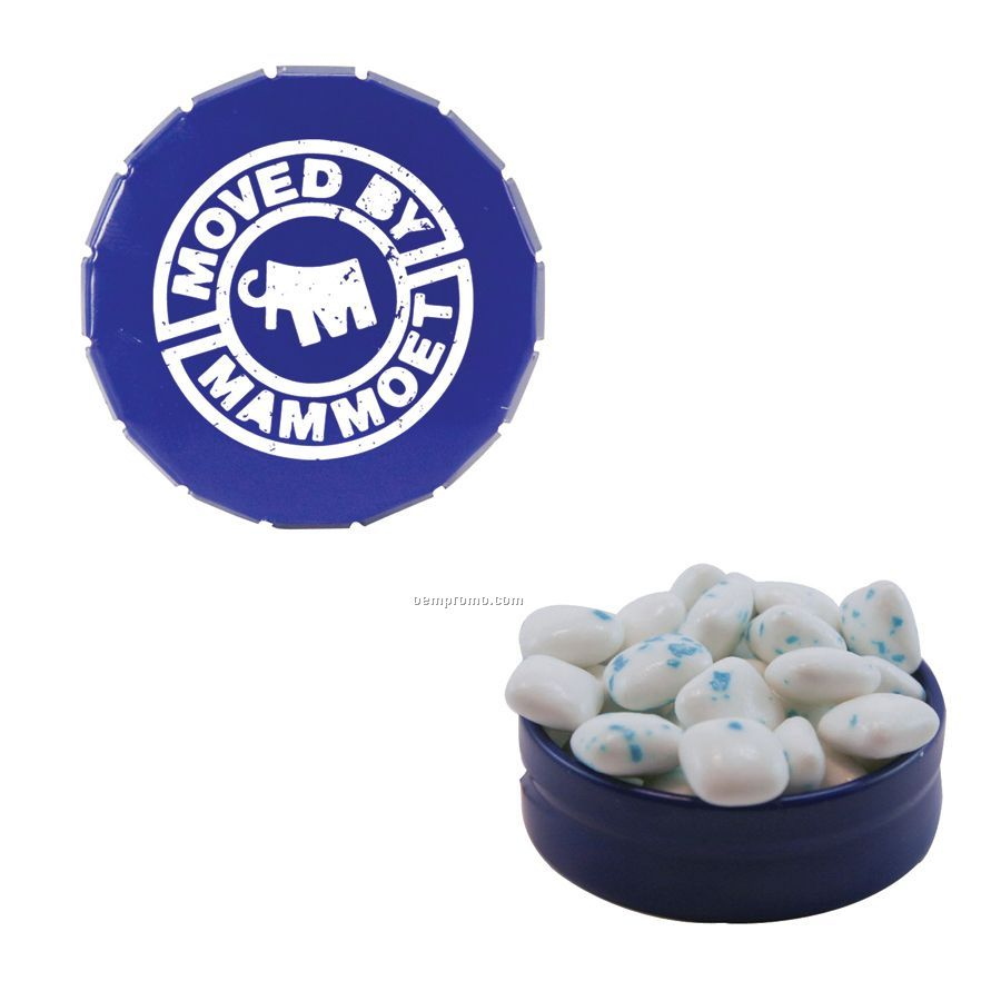 Small Royal Blue Snap-top Mint Tin Filled With Sugar Free Gum
