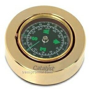Vip Gold Compass Paperweight