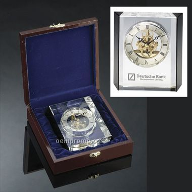 Crystal Clock (Engraved)