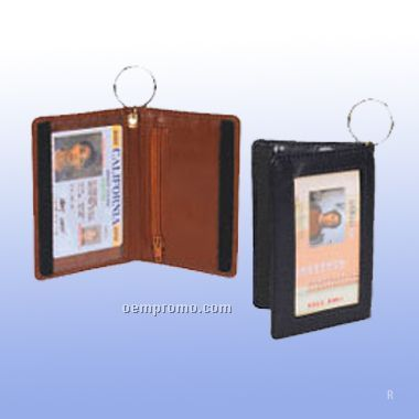Double Id Holder W/Key Ring / Screen Print