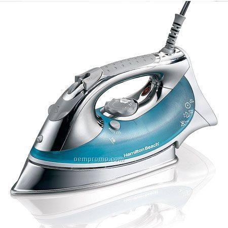 Hamilton Beach Chrome Skirt Stainless Steel Soleplate Iron