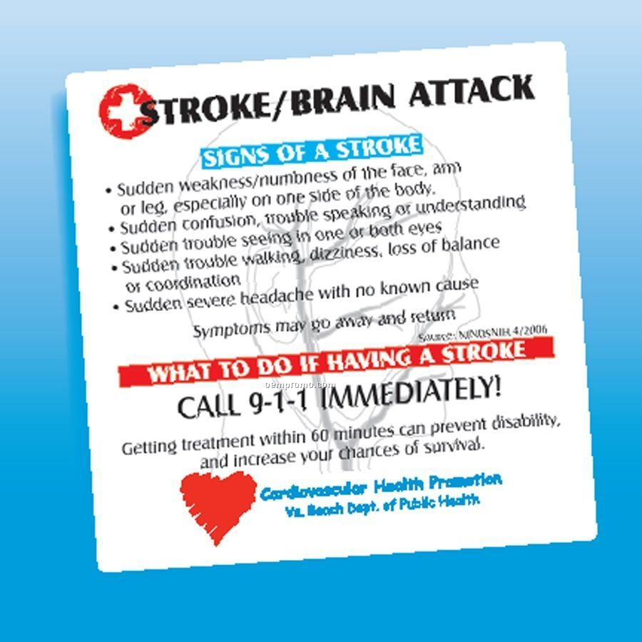 Health & Safety - Laminated Stroke/Brain Attack Magnet