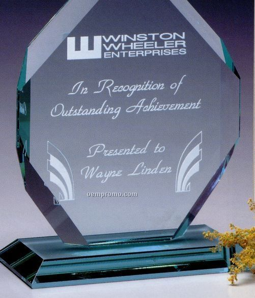 "Jade Gallery Crystal Regal Diamond Award (11"")"