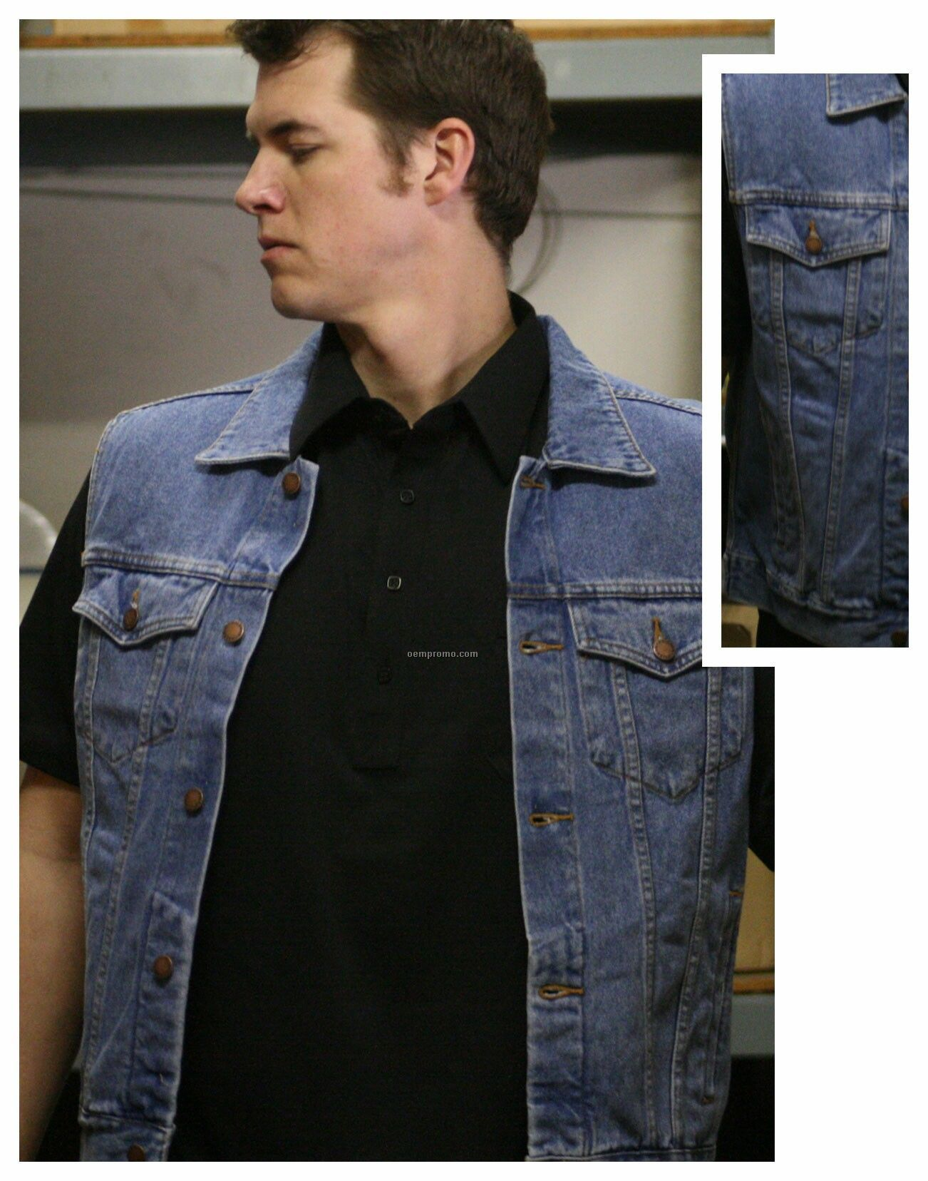 100% Cotton Denim Vest (S-xl)