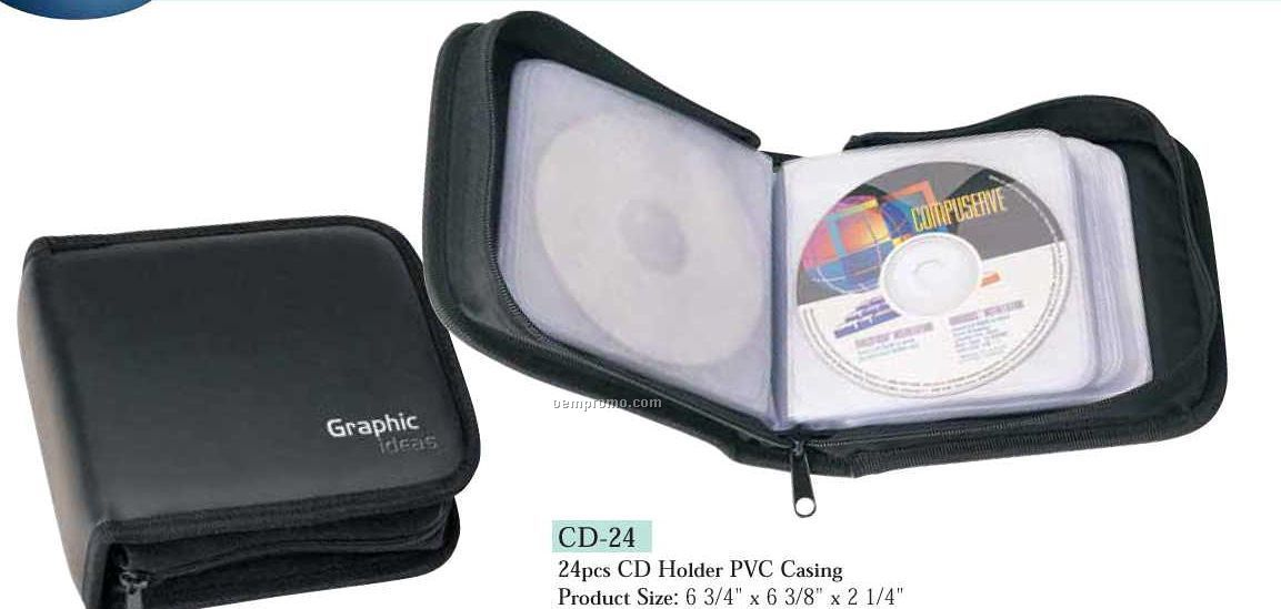 24-cd Holder With Pvc Casing