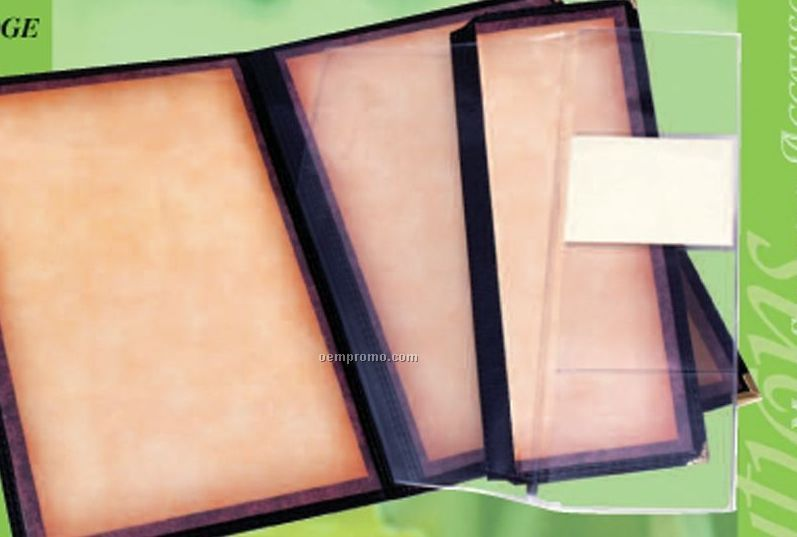 """Add A Page Pocket Folder (Holds Two 8-1/2""""X14"""" Inserts)"""