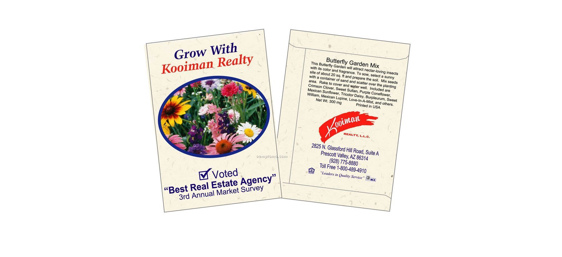 Butterfly Mix Flower Seed Packet (2 Color)