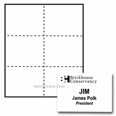 """Classic Name Tag Paper Inserts - 1 Color (4 1/4""""X3 2/3"""")"""