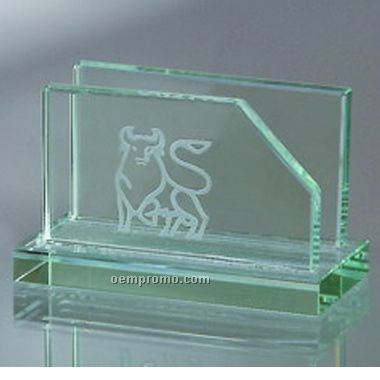 Jade Glass Business Card Holder (Screened)
