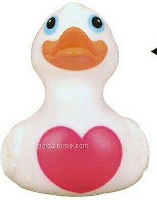Rubber Big Heart Duck