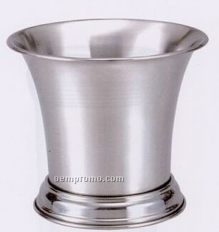 Small Stainless Steel Flared Wine Ice Bucket W/ Base