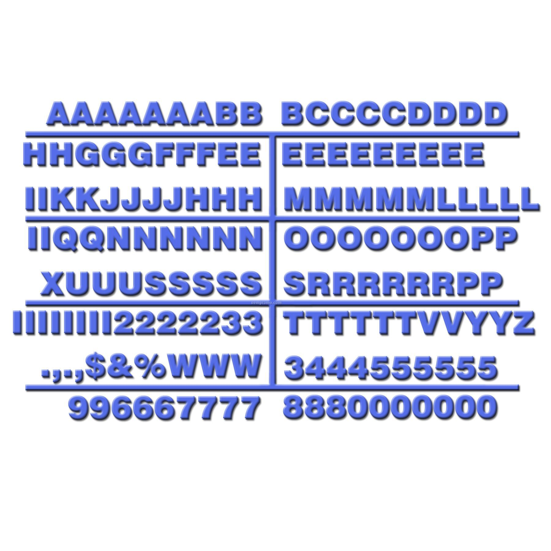 """3/4"""" Character Letter Set For Letter Boards (475 Piece)"""