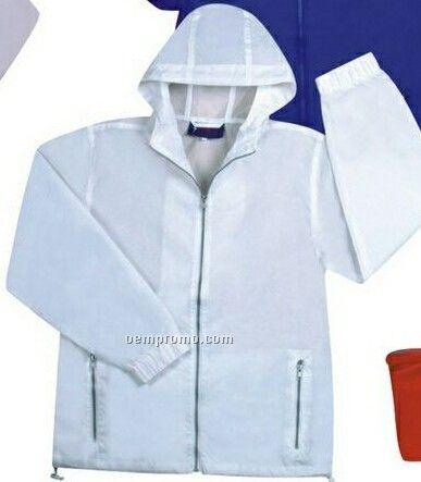 Foldable Nylon Single Wind Coat W/ Hood