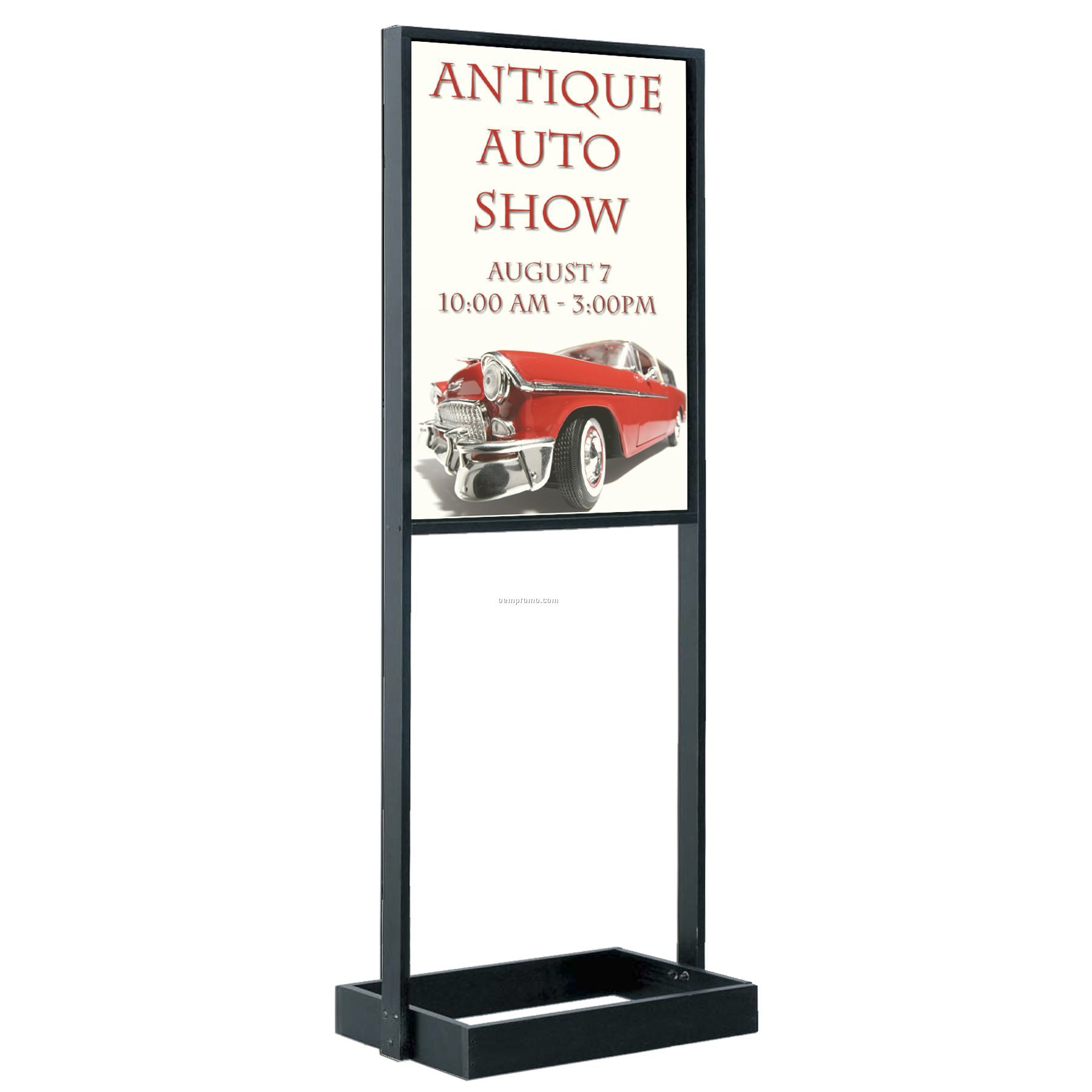 Free Standing Poster Holder Stand Black Finish 63 Quot High