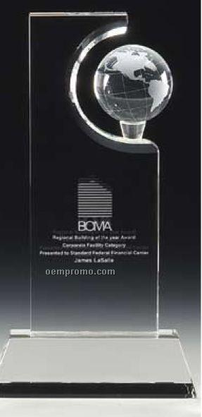 "Optimaxx 11"" Sculpted Global Towers Award W/ Base"